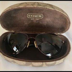 Vintage Coach Allegra Aviator Sunglasses